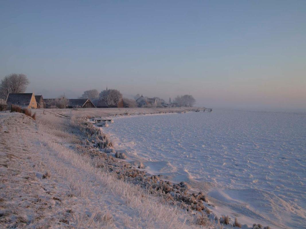 Nederland, Uitdam, Waterland 4 februari 2012