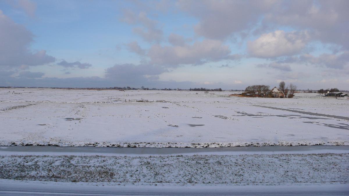 Nederland,  Uitdam  31 januari 2010Wintertaferelen in Waterland aan de ijsselmeerdijk bij UitdamFoto: Marijke Bresser/ Hollandse Hoogte